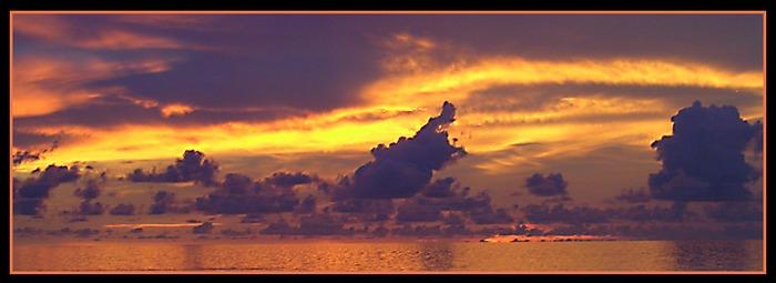 Sunset in den Malediven