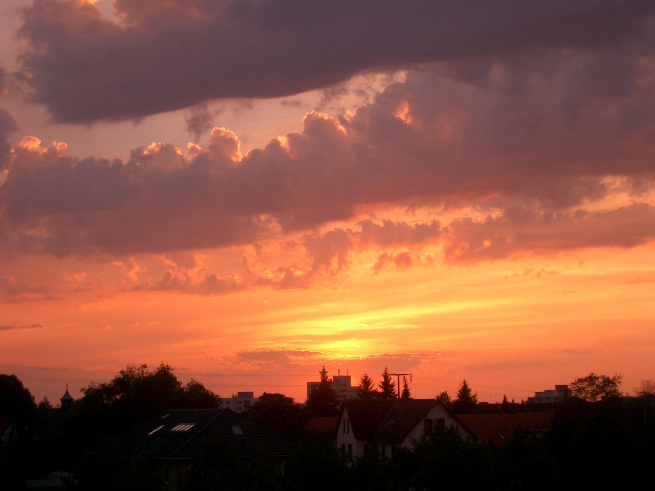 Sunset in Flensburg