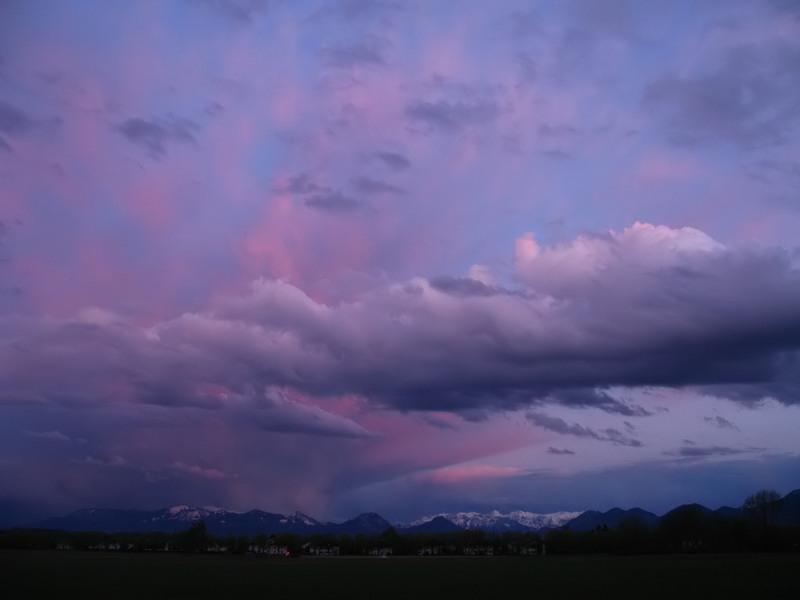 """Sunset in front of """"Wilder Kaiser"""""""