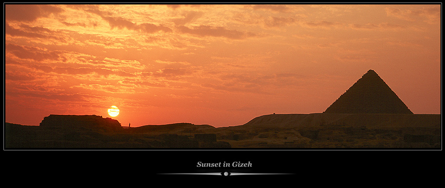 Sunset in Gizeh