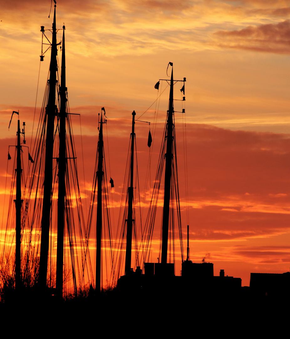 Sunset in Groningen