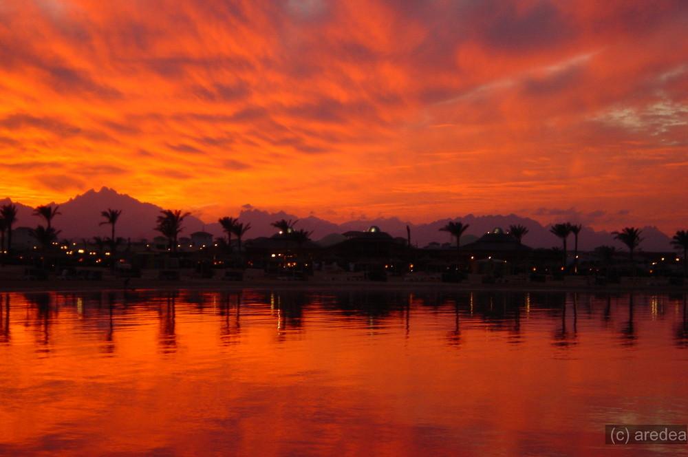 sunset in hurgada