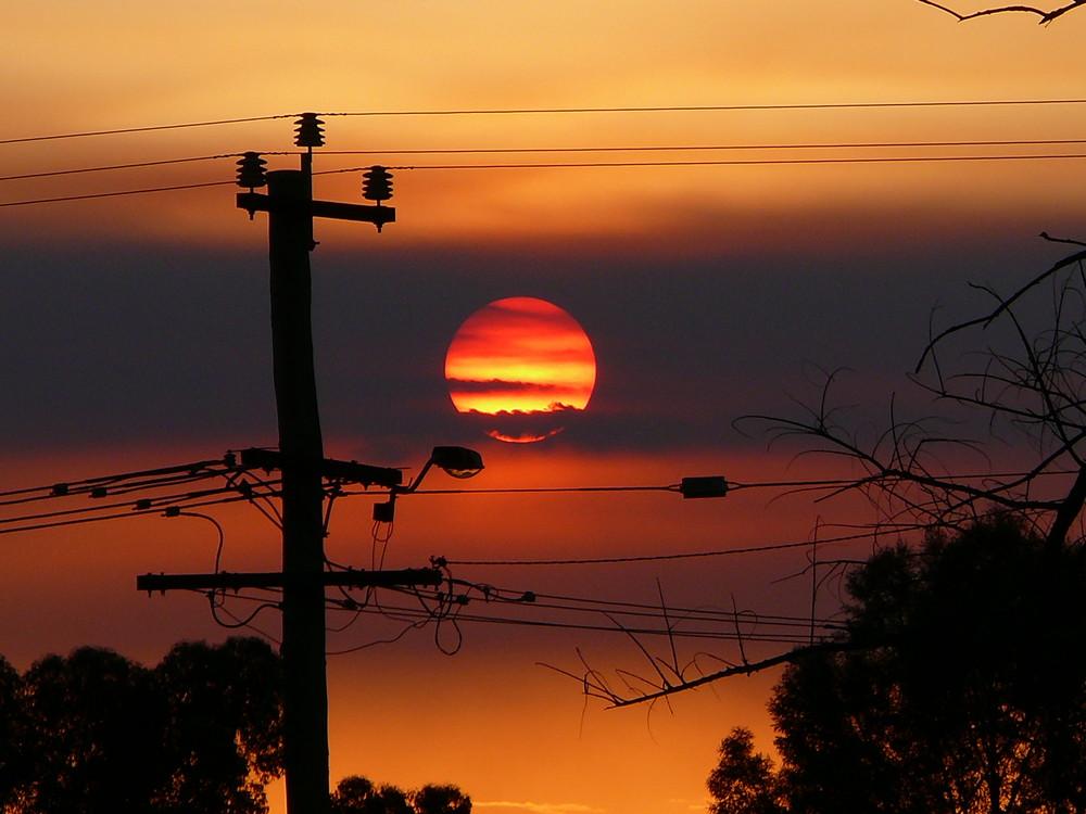 Sunset in Kalgoorlie, Western Australia