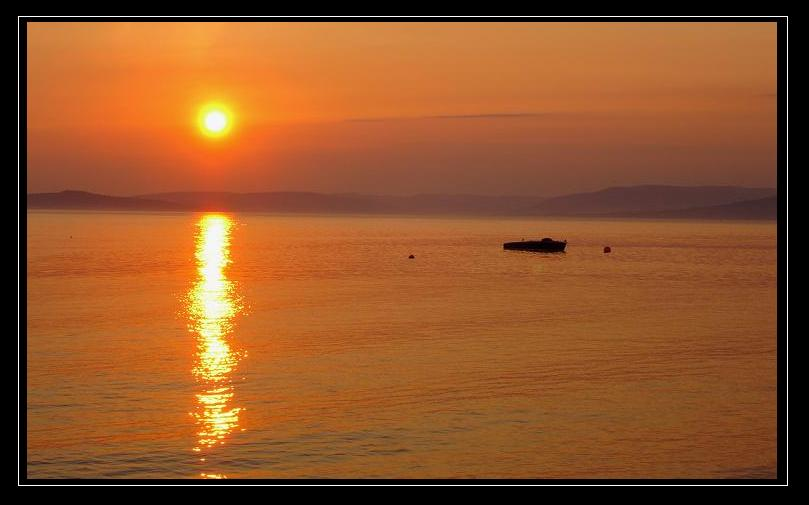 Sunset in Largs