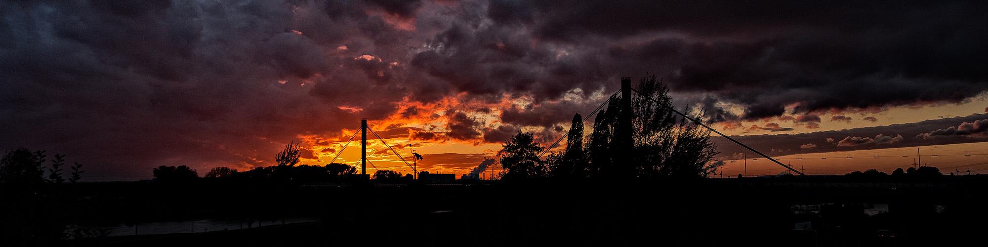 Sunset in Leverkusen