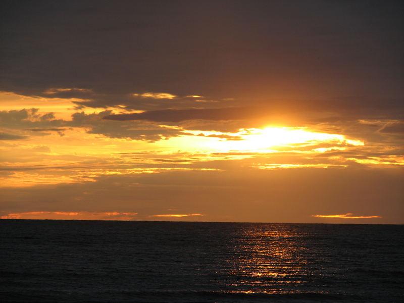 sunset in Liepaaja