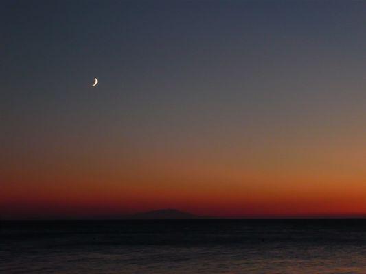 sunset in ören