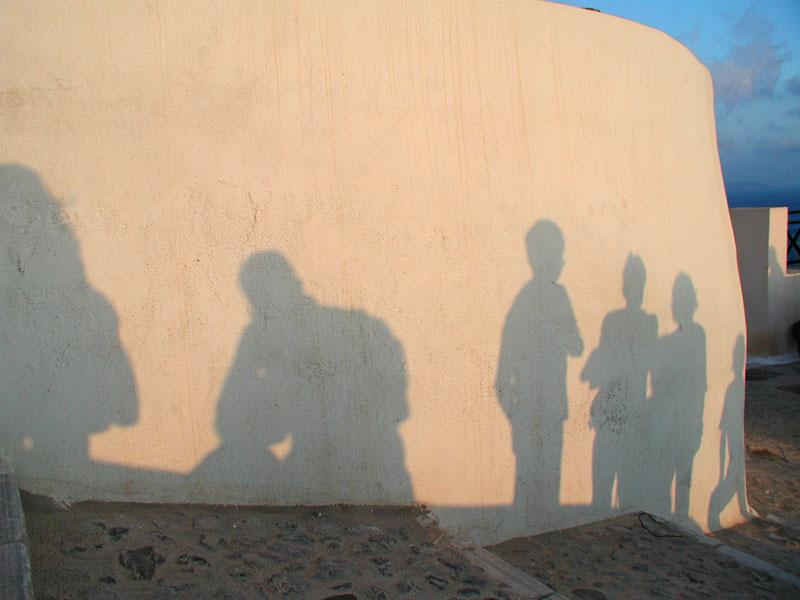 Sunset in OIA/Santorin - Alle warten