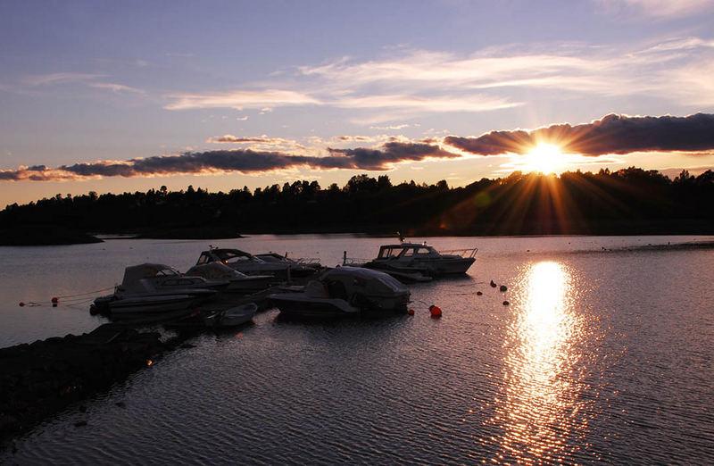 Sunset in Oslo