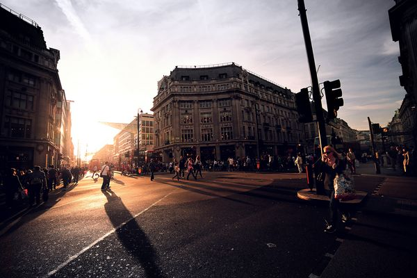 Sunset in Oxford Street