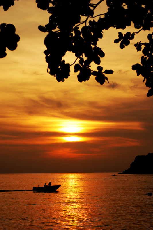 sunset in pangkor