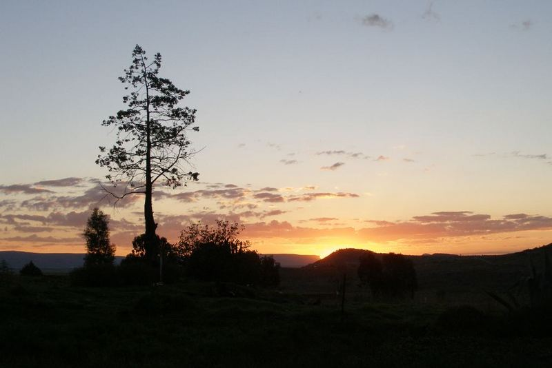 Sunset in Roma, Lesotho