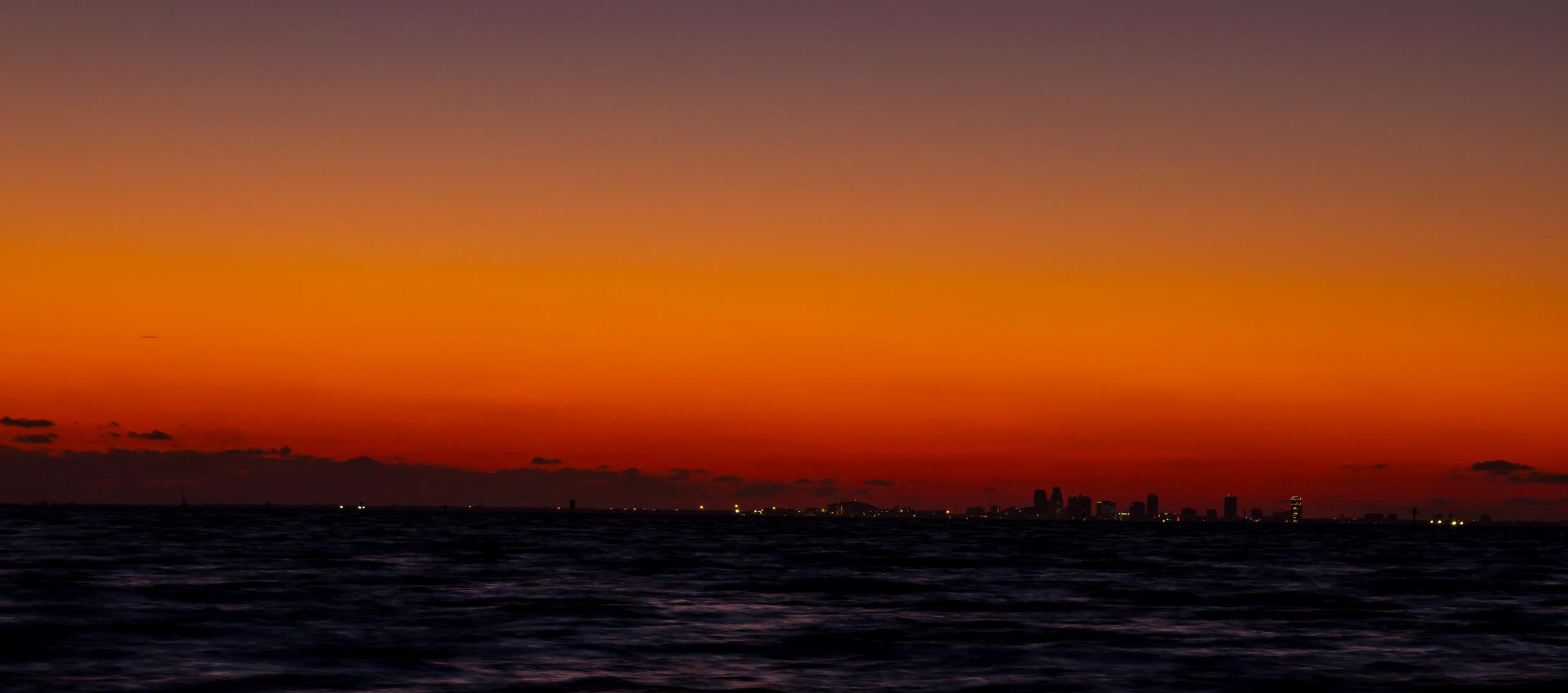 Sunset in Saint Petersburg/Tampa, Florida