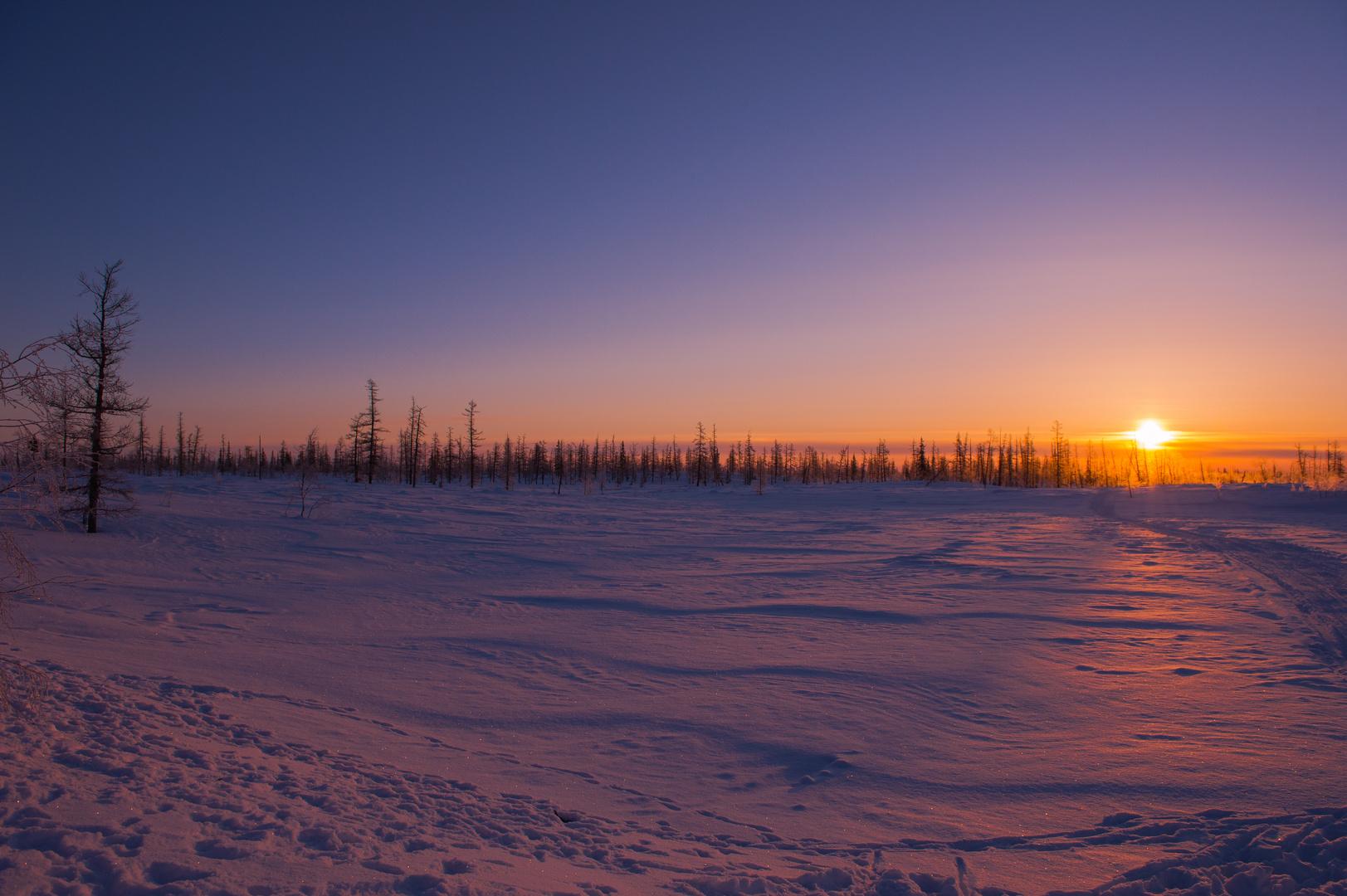 Sunset in Sibirien