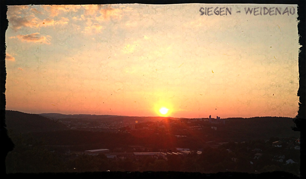 Sunset in Siegen