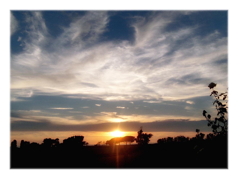 sunset in tarquinia