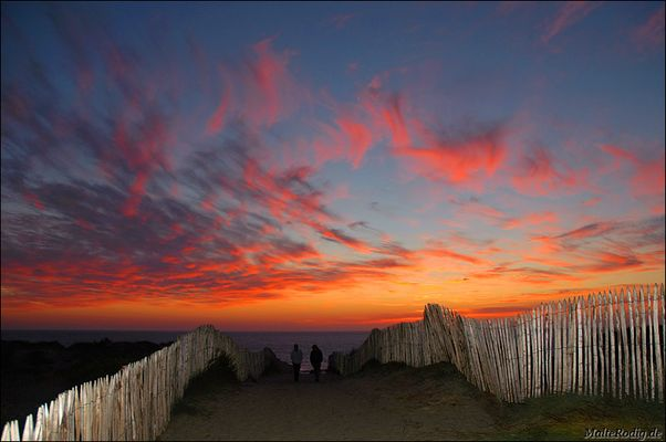 Sunset in the dunes
