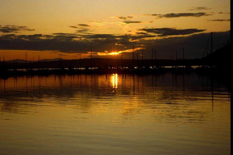 sunset in tofino