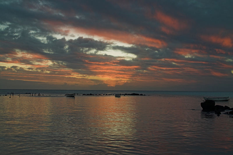 Sunset in Trou aux Biches