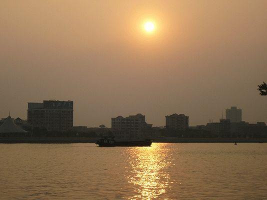 Sunset in Zhujiang River