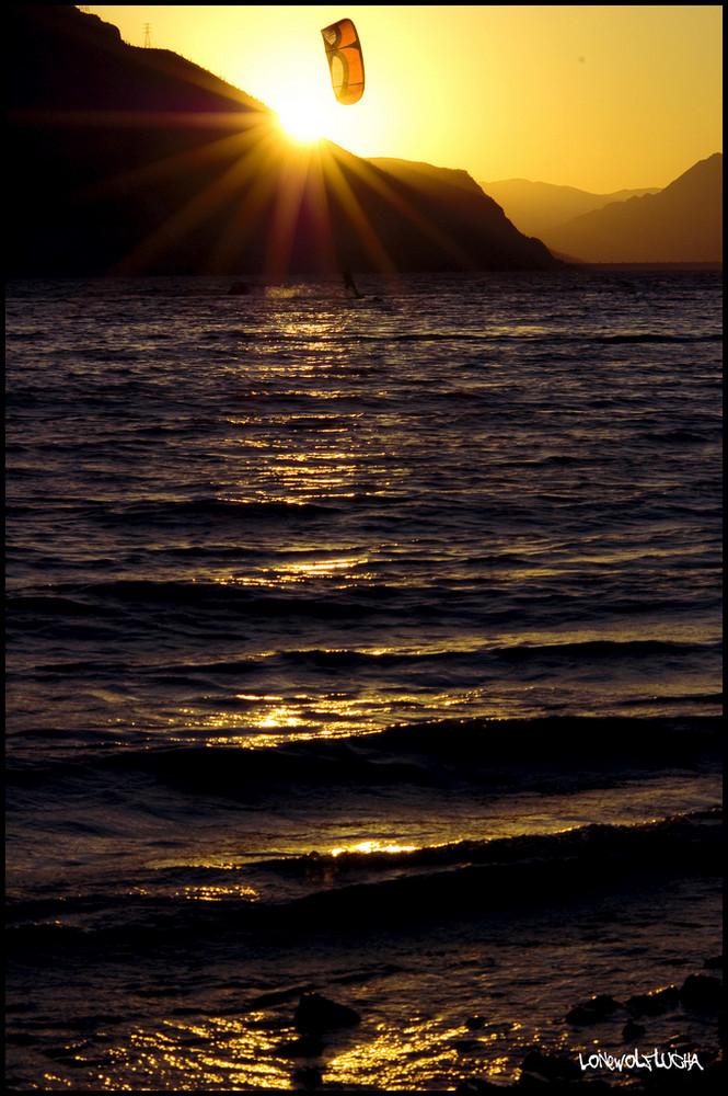 Sunset Kitesurf