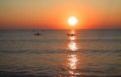 sunset kuta beach bali