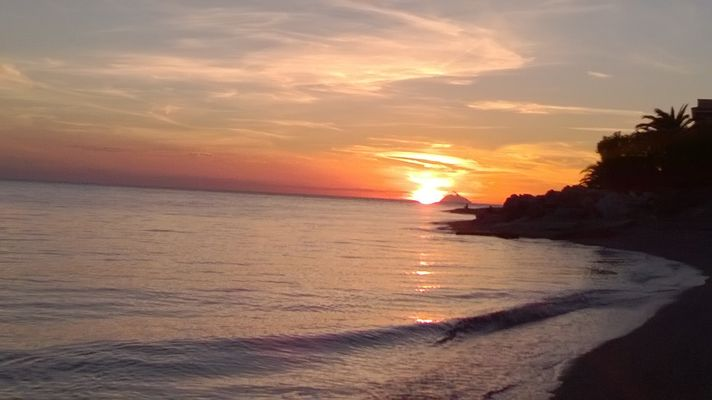 Sunset Lampara beach (Gizzeria) 19-10-2016