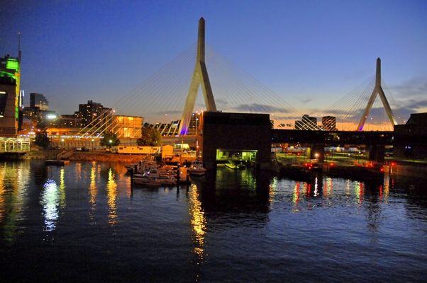 Sunset @ Leonard P. Zakim Bunker Hill Bridge, Boston, MA