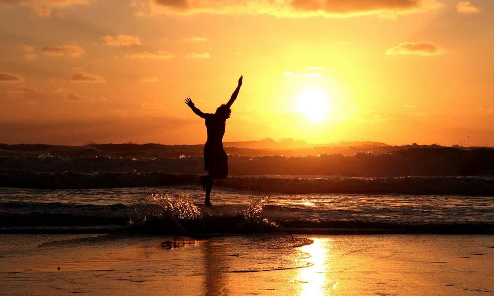 Sunset mit Surfer