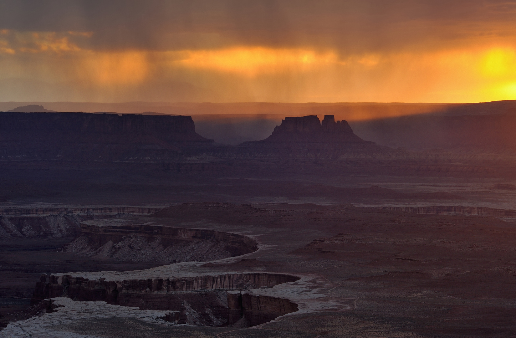 *sunset  monsoon over canyonlands*