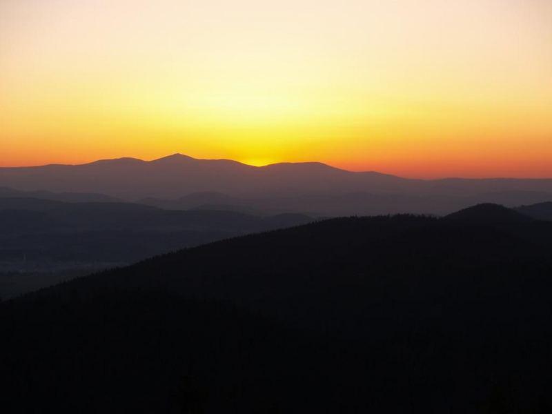 sunset - mountains Krkonose