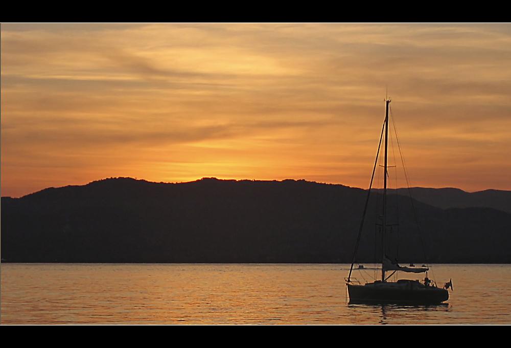 Sunset near Cannes