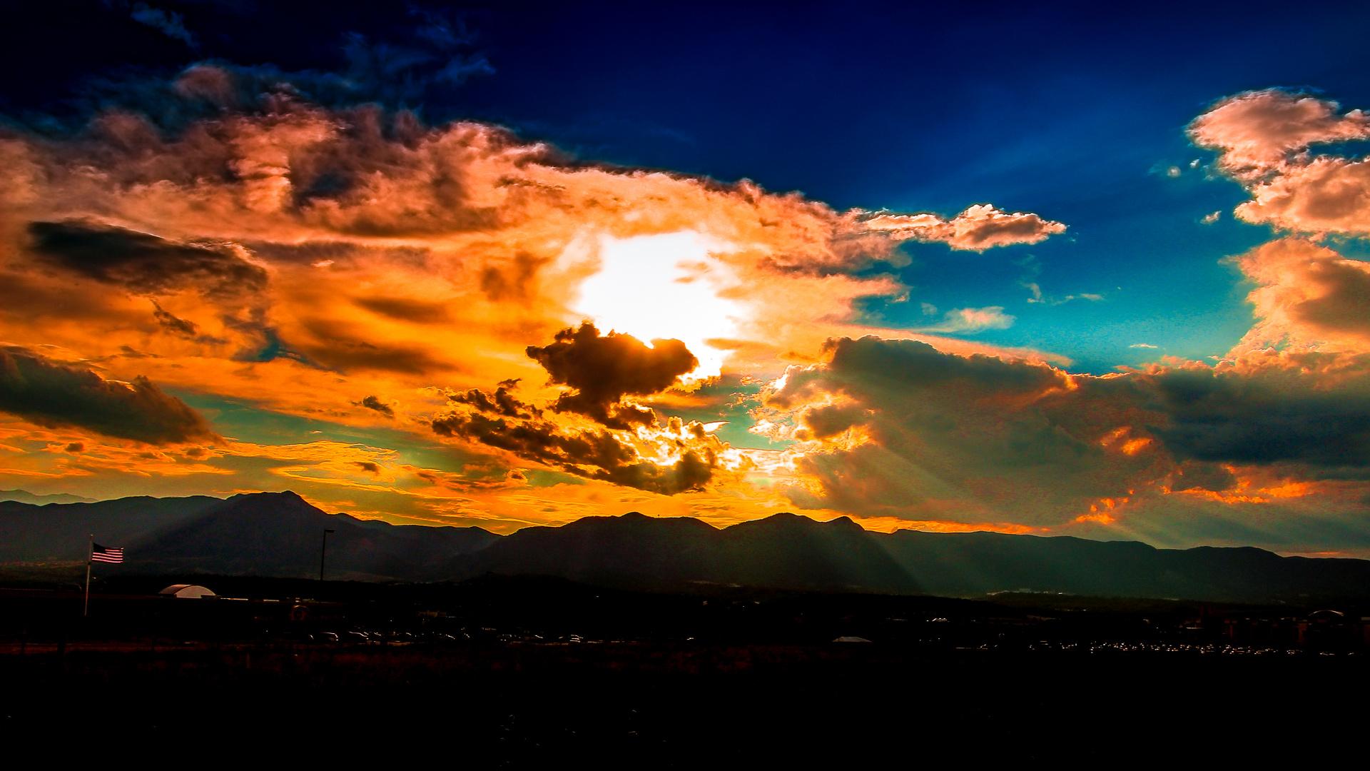 Sunset near the Rocky Mountains