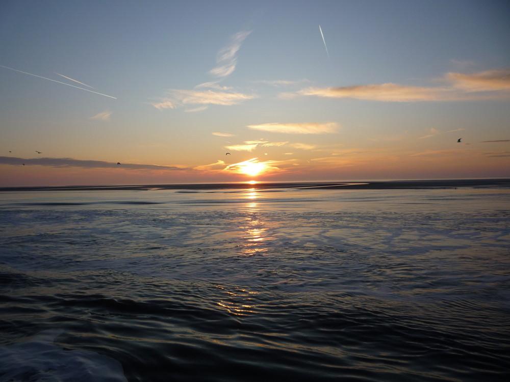 Sunset Nordsee im Winter