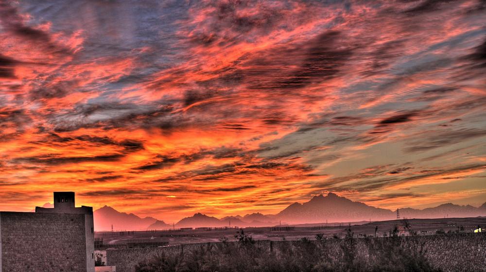Sunset of Egypt - HDR