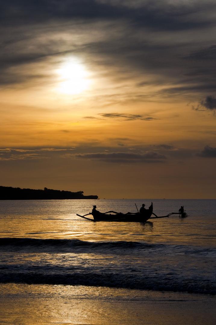 Sunset of the beach Jimbaran, Bali