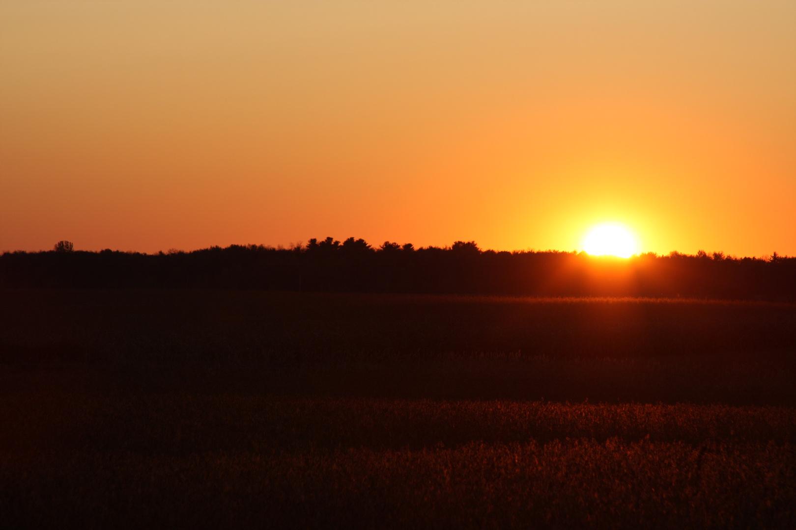 """Sunset on """"Chemin du Roy"""" in Quebec"""