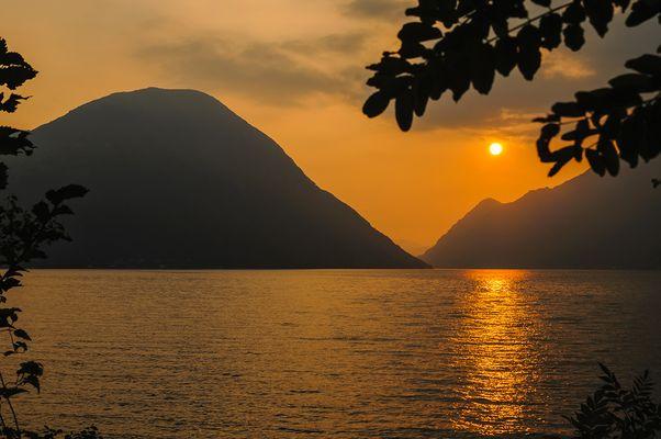 Sunset on Como's lake