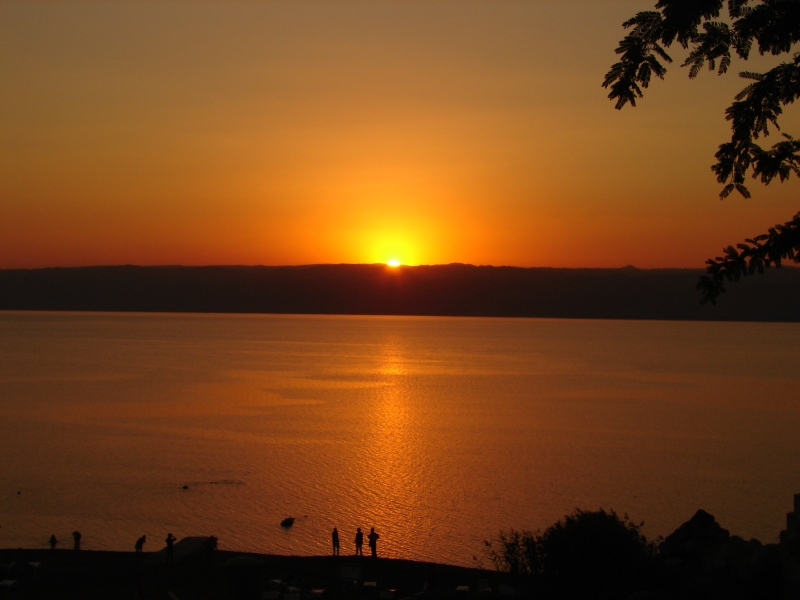 SUNSET ON DEAD SEA