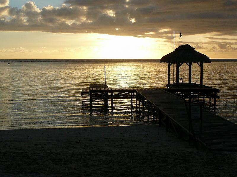 Sunset on Flic-en-Flac, Mauritius, 2007