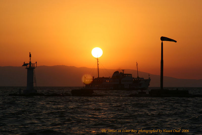 Sunset on Izmir Bay...