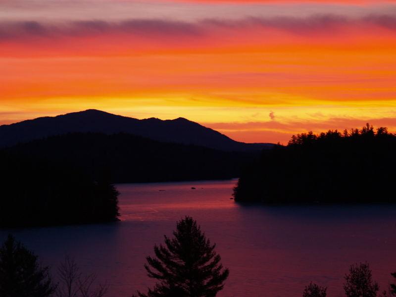 Sunset on Lower Saranc Lake