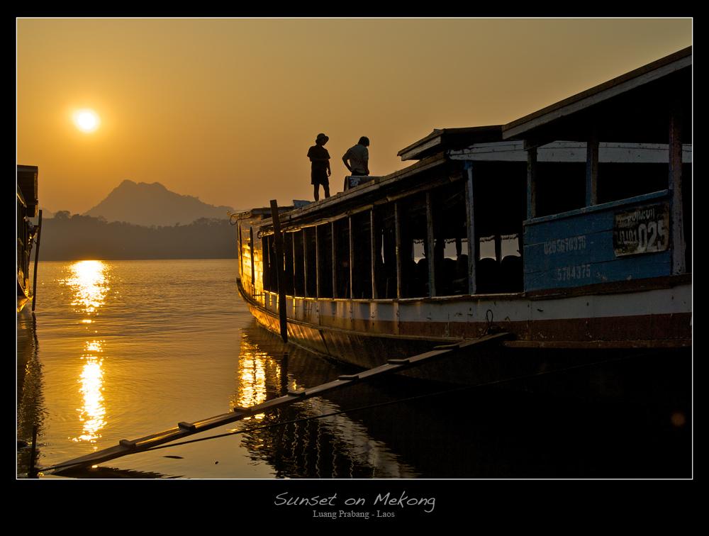 Sunset on Mekong, Luang Prabang