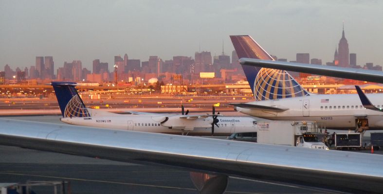 Sunset On NewYork, view from Newark Airport