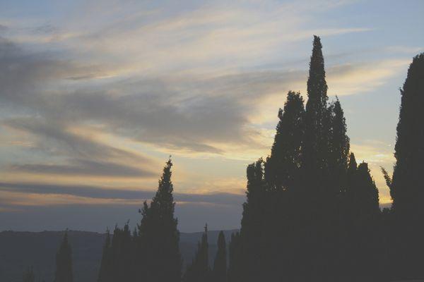 Sunset on Pienza