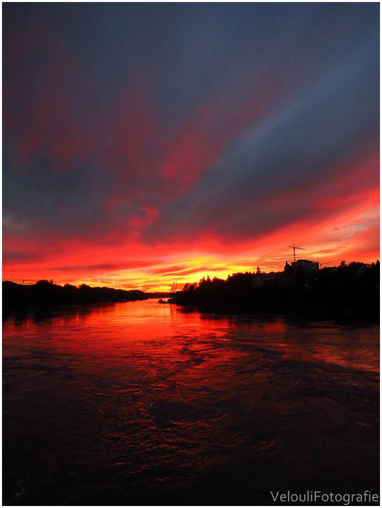 Sunset on The Rheinfelden Brigde