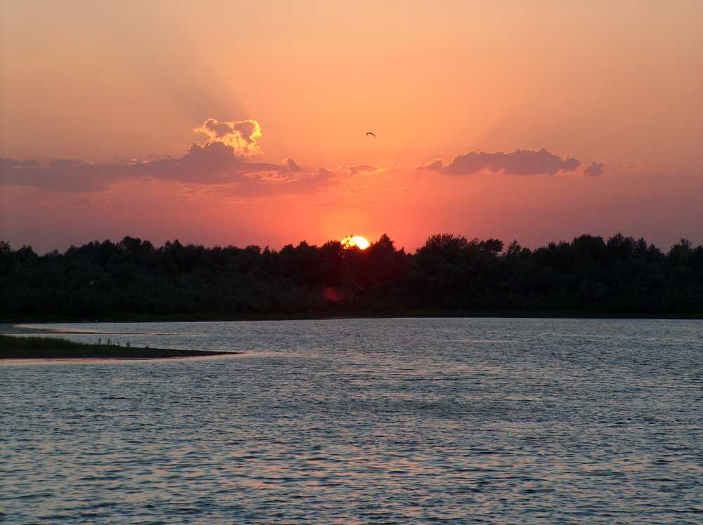 Sunset on the Volga