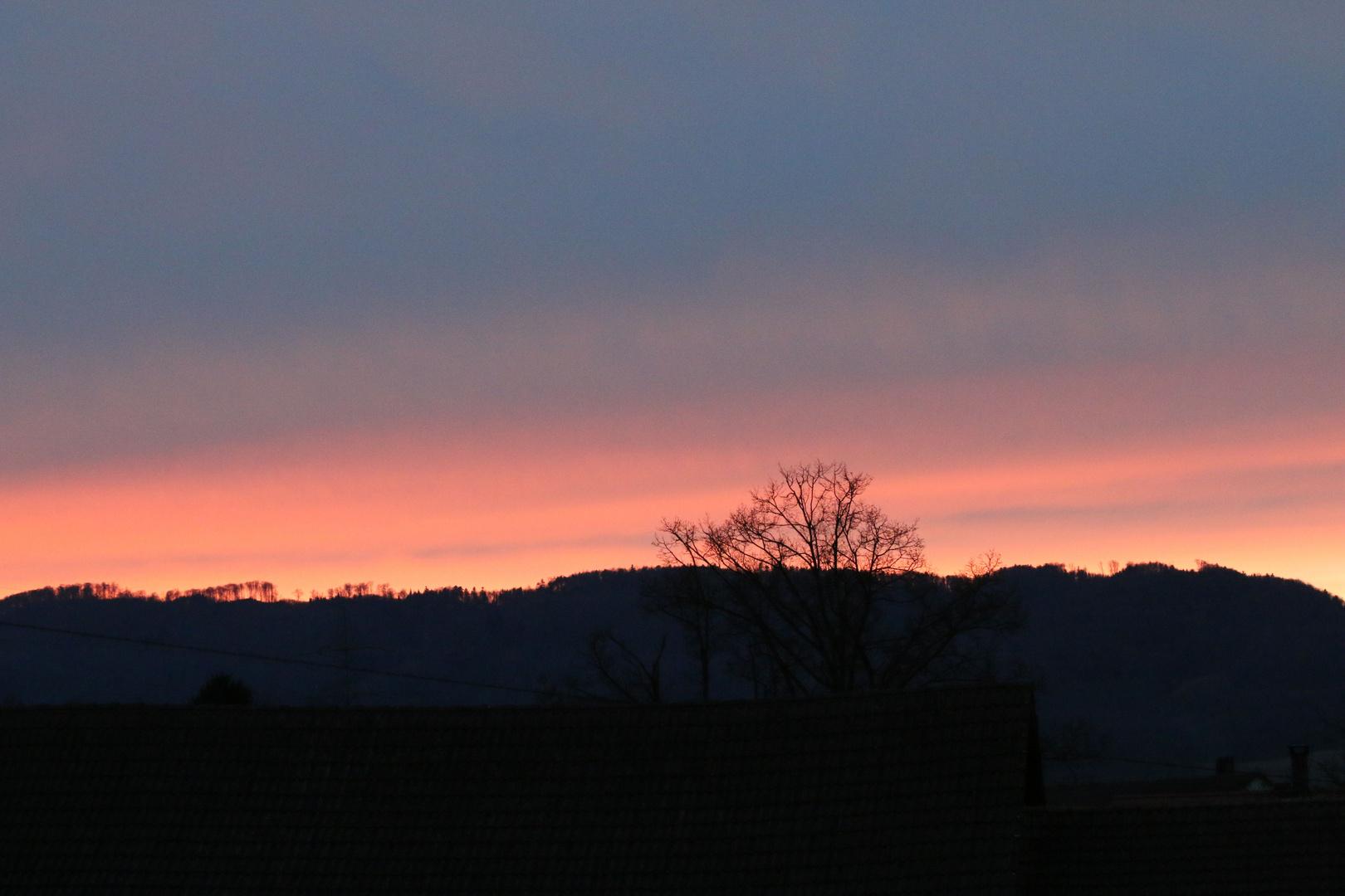 Sunset over Argovia