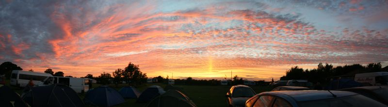 Sunset over campsite