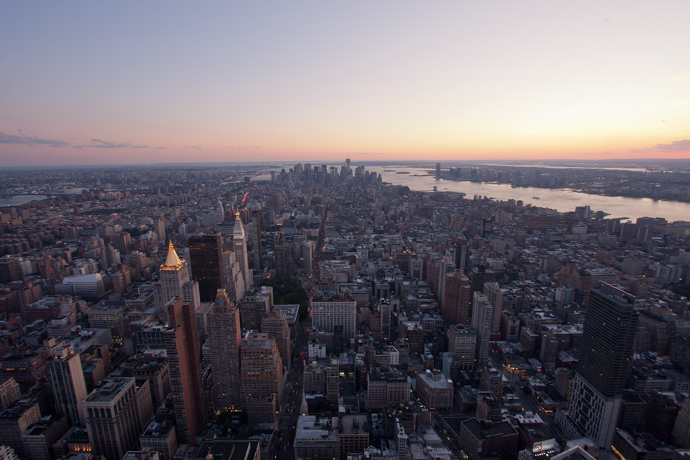 Sunset over Empire State Building
